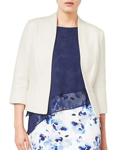 Jacques Vert Circle Textured Jacket-NEUTRAL-UK 16/US 14