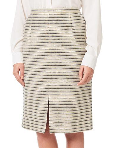 Eastex Tweed Pencil Skirt-CREAM MULTI-UK 18/US 16