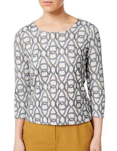 Eastex Rope Printed Top-CREAM-UK 16/US 14