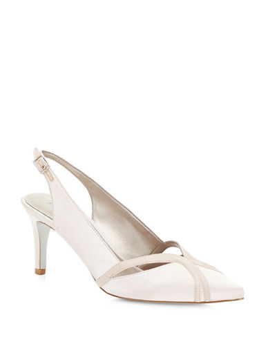 Jacques Vert Piped Pointed Toe Pumps-NEUTRAL-10.5