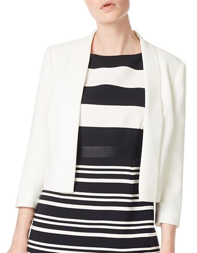 Precis Petite Philippa Cropped Jacket-IVORY-UK 14/US 12