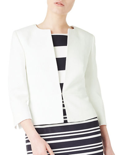 Precis Petite Denise Ottoman Jacket-WHITE-UK 16/US 14