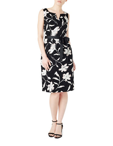 Precis Petite Hannah Clip Spot Dress-BLACK-UK 8/US 6