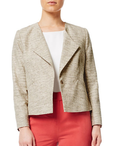 Eastex Textured Cotton Blend Jacket-NEUTRAL-UK 14/US 12