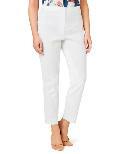 Eastex Textured Crop Trousers-IVORY-UK 12/US 10