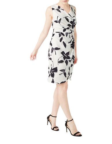 Precis Petite Ria Printed Draped Dress-MULTI-UK 8/US 6