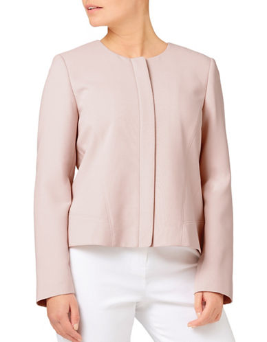 Eastex Waffle Textured Jacket-LIGHT PINK-UK 12/US 10