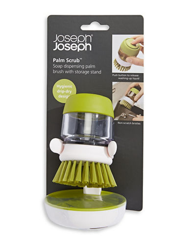 Get Sorted Palm Scrub Soap Dispensing Brush with Stand-GREEN-One Size