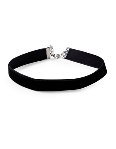 Topshop Velvet Choker-BLACK-One Size