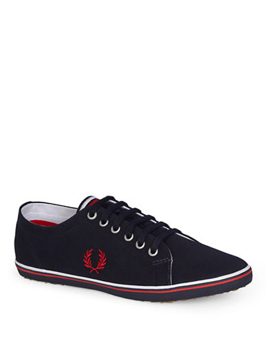 Fred Perry Kingston Twill Shoes-BLUE-10