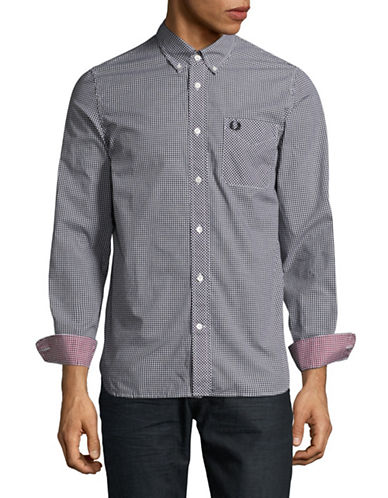 Fred Perry Classic Gingham Sport Shirt-BLACK-X-Large