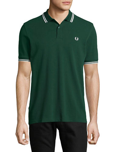 Fred Perry Twin-Tipped Polo-GREEN-Small