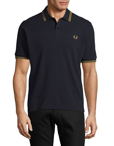 Fred Perry Twin-Tipped Polo-NAVY-38
