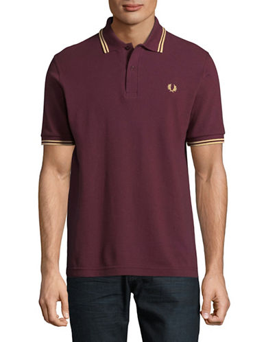 Fred Perry Twin-Tipped Polo-BURGUNDY-42