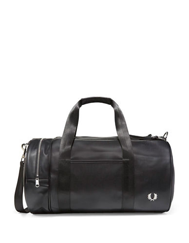 Fred Perry Barrel Bag-BLACK-One Size
