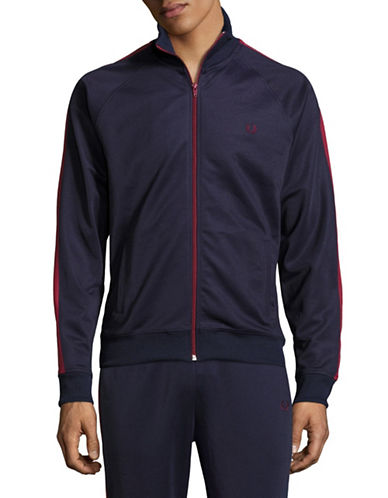 Fred Perry Contrast Panel Track Jacket-BLUE-Small 89071430_BLUE_Small