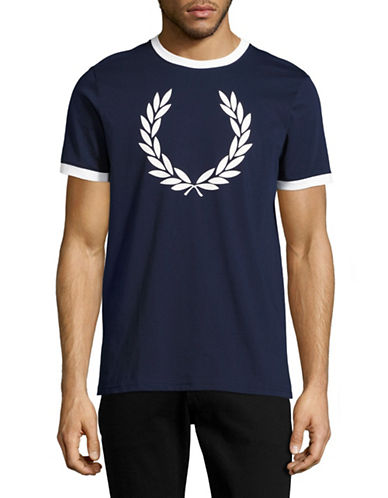 Fred Perry Laurel Wreath T-Shirt-BLUE-Medium 89071476_BLUE_Medium