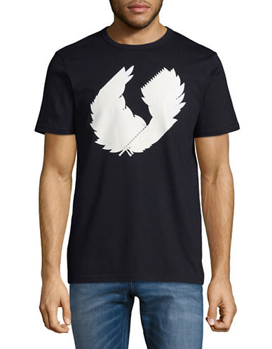 Fred Perry Laurel Wreath T-Shirt-NAVY-Medium