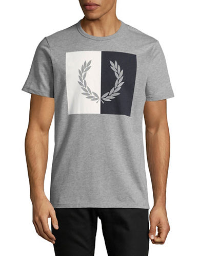 Fred Perry Split Wreath T-Shirt-GREY-Medium