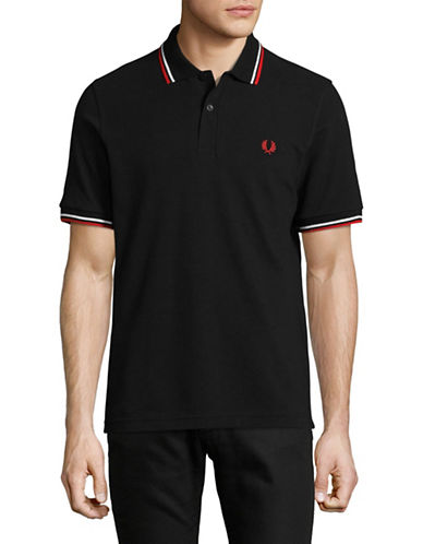 Fred Perry Twin-Tipped Polo-BLACK/WHITE-38