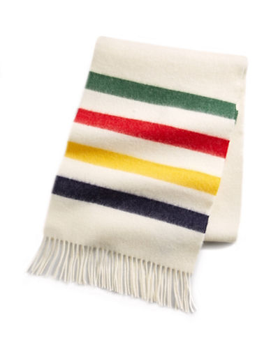 HudsonS Bay Company Multi Stripe Wool Scarf-MULTISTRIPE-One Size
