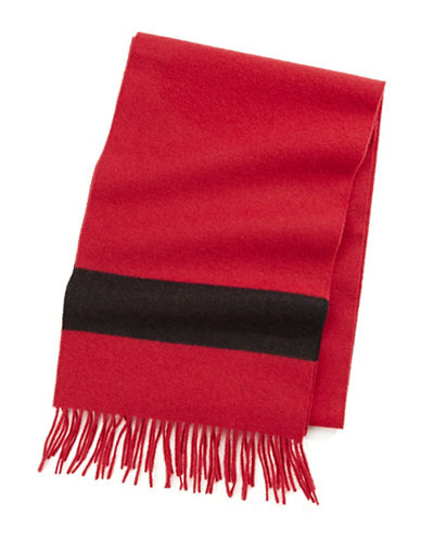 HudsonS Bay Company Multi Stripe Wool Scarf-SCARLET-One Size
