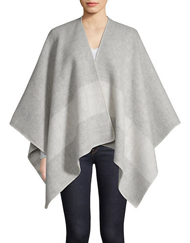 HudsonS Bay Company Scottish Wool Poncho-MULTI-One Size