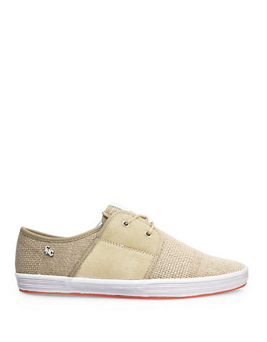 Fish N Chips Spam 2 Weft Suede Sneakers-NATURAL-EU 40/US 7