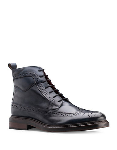 Base London Manby Washed Lace-Up Boots-NAVY-EU 43/US 10