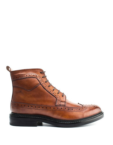 Base London Manby Brogue Lace-Up Boots-TAN-EU 45/US 12