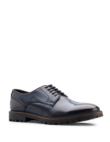 Base London Barrage Leather Lace-Up Shoes-BLUE-EU 43/US 10