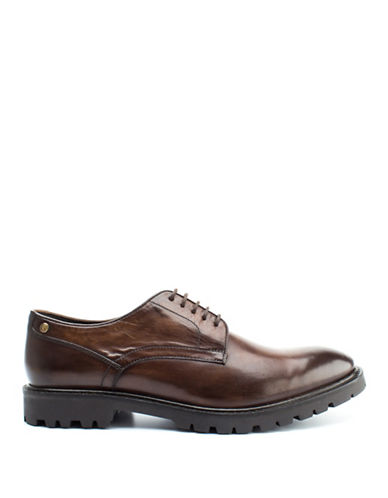 Base London Barrage Leather Lace-Up Shoes-BROWN-EU 42/US 9
