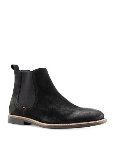 Base London Ashdown Suede Chelsea Boots-BLACK-EU 46/US 13