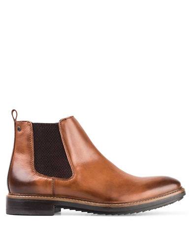 Base London Dalton Leather Chelsea Boots-TAN-EU 41/US 8