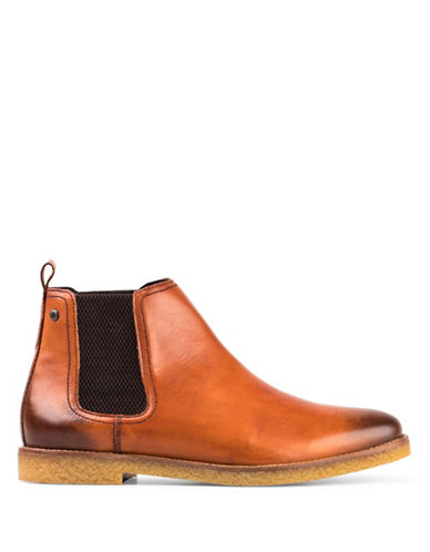 Base London Ferdinand Washed Chelsea Boots-TAN-EU 45/US 12