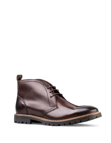Base London Trojan Leather Chukka Boots-BROWN-EU 44/US 11