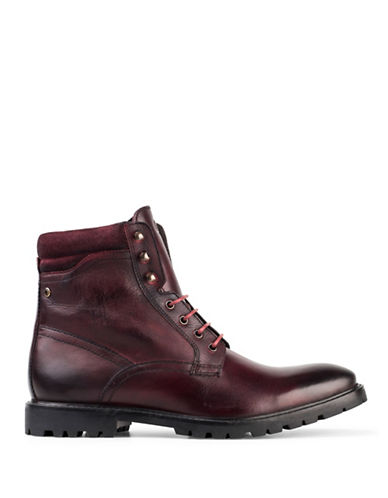 Base London York Washed Leather Boots-RED-EU 42/US 9