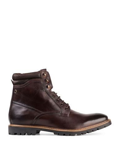 Base London York Washed Leather Biker Boots-BROWN-EU 42/US 9