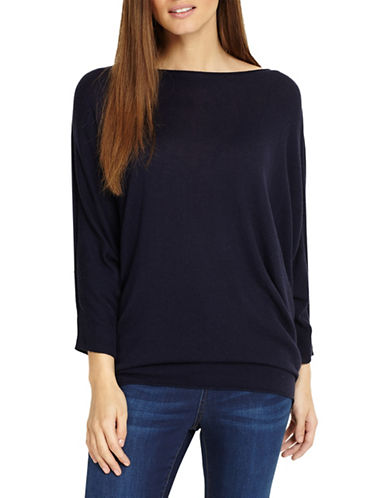 Phase Eight Becca Batwing Sweater-BLUE-4