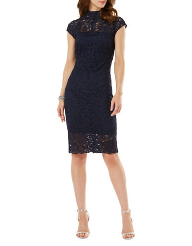 Phase Eight Becky Lace Cocktail Dress-NAVY-UK 16/US 12