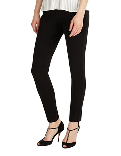 Phase Eight Lia Slim Fit Trousers-BLACK-UK 10/US 6
