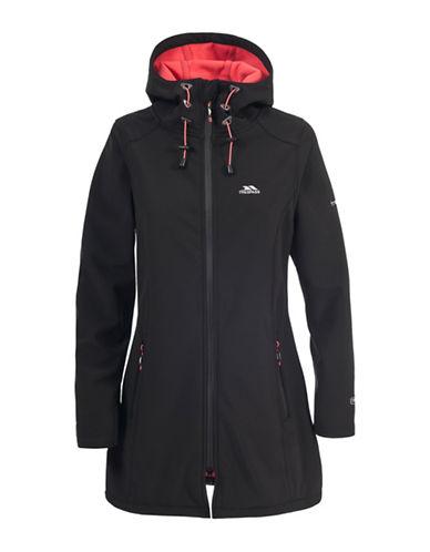 Trespass Kitsy Long Softshell Waterproof Jacket-BLACK-Medium 88619243_BLACK_Medium