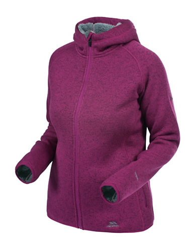 Trespass Valeo Zip-Front Fleece Hoodie-PINK-Large 88695495_PINK_Large