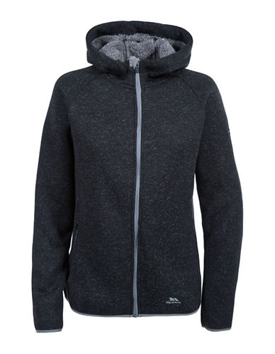 Trespass Valeo Zip-Front Fleece Hoodie-BLACK-X-Large 88695489_BLACK_X-Large
