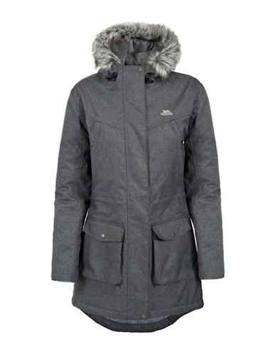 Trespass Padded Mid Length Thunderstorm Coat-BLACK-X-Small 88695520_BLACK_X-Small