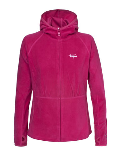 Trespass Marathon Microfleece Hoodie-RED-Large 88619183_RED_Large
