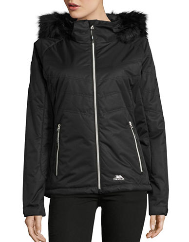 Trespass Jolie Waterproof Faux Fur Jacket-BLACK-X-Large 88695531_BLACK_X-Large