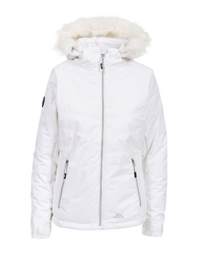 Trespass Jolie Waterproof Faux Fur Jacket-WHITE-X-Large 88695538_WHITE_X-Large