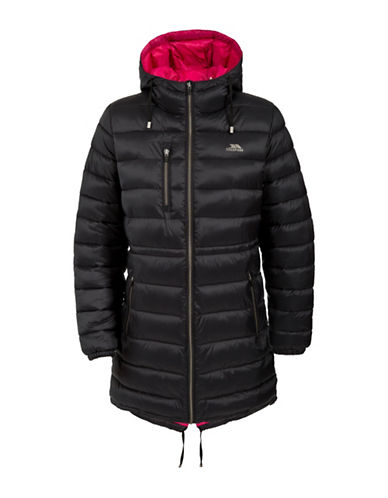 Trespass Prudhoe Long Coat-BLACK-XX-Small plus size,  plus size fashion plus size appare