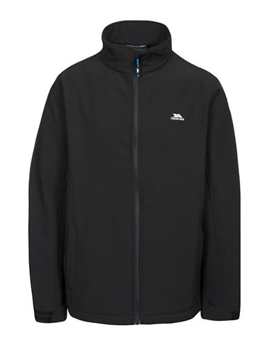 Trespass Vander Tailored-Fit Softshell Jacket-BLACK-X-Small